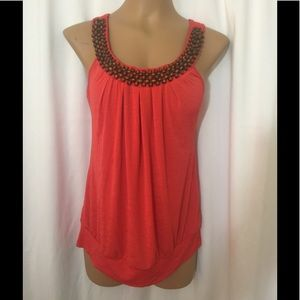 Tops - HeartSoul beaded neck loose fit T Shirt XL